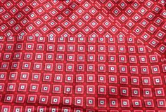 "Red Squares - Silk Charmeuse (10""x11"")"