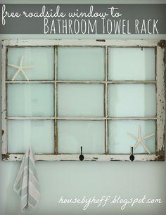 House by Hoff: Free Roadside Window to Bathroom Towel Rack