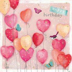 Happy birthday heartballoons