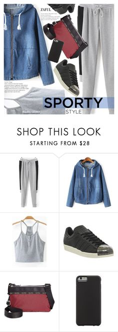 """""""Sporty Style"""" by pokadoll ❤ liked on Polyvore featuring adidas, Calvin Klein, Case-Mate, polyvoreeditorial, polyvorefashion, polyvoreset and zaful"""