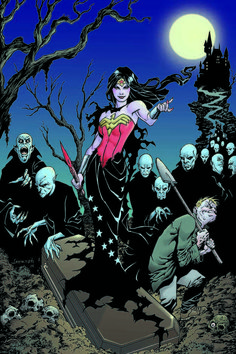 Wonder Woman #35 variant cover by Aaron Lopresti | DC Superheroes Get A Monster Mash-Up In October