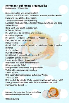 Komm mit auf meine Traumwolke A little fantasy trip for you! Come with me on my dream cloud Jnana Yoga, Old Technology, Action Words, Design Your Dream House, Good Posture, Relax, Yoga For Kids, How To Stay Healthy, Yoga Fitness
