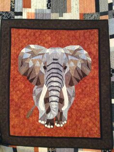 Block Patterns, Pattern Blocks, Quilt Patterns, Elephant Quilts Pattern, Asian Quilts, Biggest Elephant, Quilting, Artsy, Objects