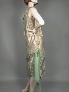 1920's Beaded Dress, side view