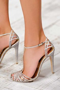 pretty silver shoes - though it looks like it could be painful wearing after awhile