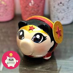 Alcancías Personalizadas Piggys 🐽 Reinita Rosa 👑 • ⭐️Alcancías Personalizadas, 100% pintadas a Mano 🎨 ✍🏻 ⭐️Decoraciones en cerámica… Personalized Piggy Bank, Dragon Ball, Photo And Video, Pigs, Instagram, Comics, Ideas, Paper, Pig Crafts