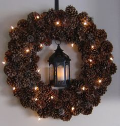 use the pine cones from the yard.  make 'em smell good and turn into wreath.