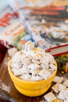 Harry Potter Butterbeer Muddy Buddies - Powered by @ultimaterecipe