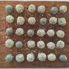 We've been busy prepping for the week ahead! Raw vegan tahini and coconut bliss balls  #SuperFood #Goodness http://hauteaudio.com