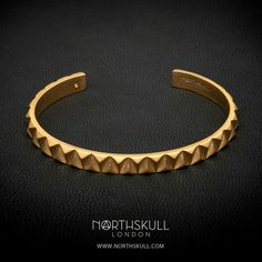 Upside Down Cuff in Brushed Gold - Collection