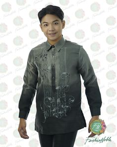HAND PAINTED BARONG TAGALOG FOR MEN MADE IN LUMBAN LAGUNA  #BARONGTAGALOG #HANDPAINTEDBARONG #FILIPINIANA #SILKBARONG