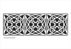 Decorative Frank Lloyd Wright Stencils: Luxfer Prism Flower