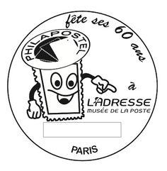 Oblitération pour les 60 ans de Philapostel, en service 5-10/11/12 à l'adresse Musée de La Poste, réal. Patrick Bleau © Phil@poste, La Poste, DR.