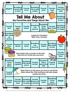 BAck to school activities: Icebreakers: Back to School Board Games: FREEBIE is a collection of 3 printable Back to School Board Games by Games 4 Learning. Perfect as 'getting to know you' games for the few first days of school! Get To Know You Activities, First Day Of School Activities, 1st Day Of School, Beginning Of The School Year, School School, Memory Games For Seniors, Middle School, School Games For Kids, School Ideas