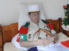 Master corporal during his wake