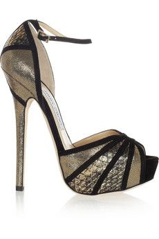 Jimmy Choo Kalpa elaphe and suede pumps | THE OUTNET
