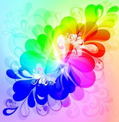 Vibrant Colors Floral Abstract Vector Background - http://www.dawnbrushes.com/vibrant-colors-floral-abstract-vector-background/