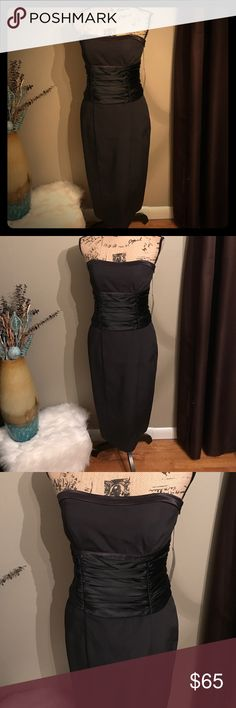 Maria Bianca Nero Black Dress Sexy and sophisticated black dress by Maria Bianca Nero. Size large (picture reflects size for confirmation) Maria Bianca Nero Dresses Midi