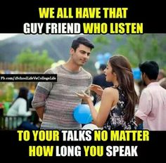 I think he listens all of my nonsense talks .nd never tells me to be quiet .smtyms I myself shut my mouth .realising that he must be getting super bored. that's my bff harsh. Bff Quotes Funny, Besties Quotes, Best Friend Quotes, Cute Quotes, Girly Attitude Quotes, Girly Quotes, School Life Quotes, Brother Sister Quotes, Bollywood Quotes