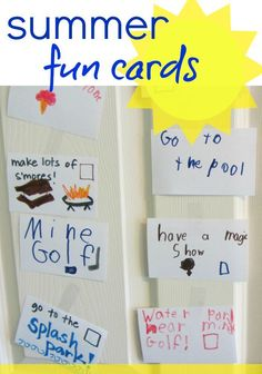 Looking for some ideas for your summer bucket list? Check out these summertime fun cards! These are a fun alternative to a simple list - decorate the cards and take them down as you do them through the summer! #teachmama #summeractivities #summerbucketlist #kidsactivities #summerfun #familyactivities #familysummerfun