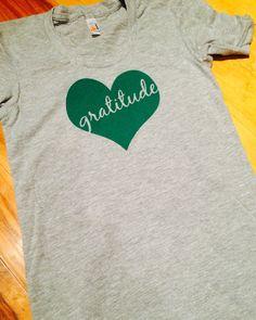 Grey gratitude tee shirt by tdressmae on Etsy