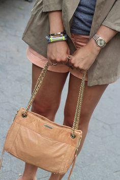 peachy Cool Street Fashion, Street Chic, Street Style, Cape Elizabeth, Pink Shorts, Style Me, Chloe, Peach, Stripes