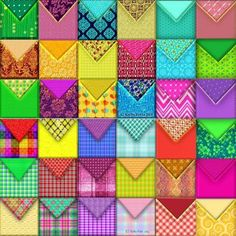 Colorful Combo Platter Of Envelopes (256 pieces)