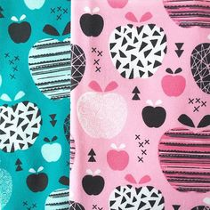 Apples! From our new fabric collection over at Hemmers/Itex  #apple #apples #fabric #fruitfabric #summerfabric #print #illustration #surfacedesign #surfacepattern #pink #textile #textiledesign #littlesmilemakers