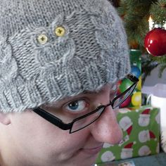 A cute and fun hat with cabled owls!