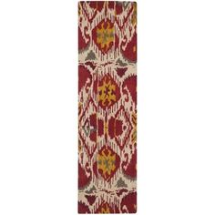 @Overstock - A transitional design and dense, thick pile highlight this handmade rug inspired by Ikat patterns with today's updated colors.http://www.overstock.com/Home-Garden/Handmade-Ikat-Ivory-Red-Wool-Rug-23-x-8/7347848/product.html?CID=214117 CAD              167.48