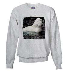 Beluga Whale Sweatshirt . I want this so badly it hurts. tooooooooooooooooooooooo  cuuuuuuuuuuuuuuuuuuuuute