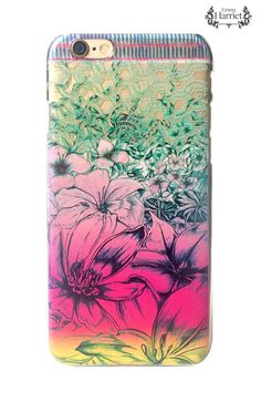 iPhone 6 clear printed case - Paradise Garden