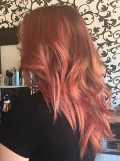Rose Gold IS all the Glitters: By Nicoletta Gauci - All For Hair Color Balayage Pink Ombre Hair, Rose Gold Hair, Coral Hair, Hair Inspo, Hair Inspiration, Blorange Hair, Gold Hair Colors, Hair Color Balayage, Haircolor