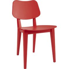 """primary chair: CAD 199.00: Solid beech frame, bentwood seat and back. Matte red lacquer finish. Plastic feet caps. Width: 17"""" Depth: 19"""" Height: 31"""" Seat: Width: 17"""" Depth: 16"""" Height: 18"""" Back Height From Top Of Seat: Height: 14.25"""" Clearance: Width: 14.5"""" Depth: 19"""" Height: 18"""""""