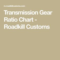 Transmission Gear Ratio Chart ~ Gear Ratios are listed for many popular transmissions. Torque Converter, Gears, Dodge, Gear Train
