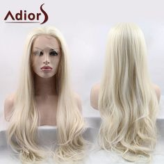 Adiors Ultra Shaggy Long Slightly Curled Lace Front Synthetic Wig