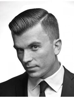 A more conservative take on the undercut with a finely graduated taper fade and classic pompadour. Short Mens Cuts, Short Hair Cuts, Short Hair Styles, Sleek Hairstyles, Boy Hairstyles, Men's Hairstyle, Hairstyle Ideas, Moustaches, Cool Haircuts