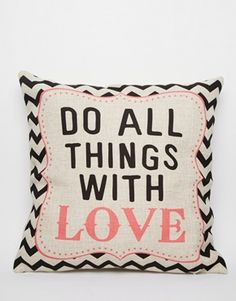 All Things With Love - Cuscino