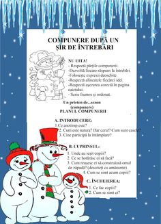 Lumea lui Scolarel...: Compunere după un plan de întrebări Romanian Language, Alphabet Worksheets, School Lessons, Teacher Hacks, Writing Skills, After School, Plans, Projects For Kids, Kids And Parenting