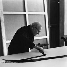 Joan Miro in his studio in Palma de Mallorca