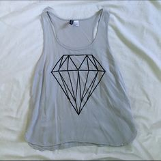 Diamond Graphic Tank Diamond printed tank top. Purchased from H&M, only worn once. H&M Tops Tank Tops