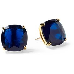 Kate Spade New York Small Square Stud Earring ($38) ❤ liked on Polyvore