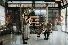 Dreamy Cream and White Bali Wedding Chinese Wedding Tea Ceremony, Chinese Wedding Decor, Oriental Wedding, Traditional Chinese Wedding, Bali Wedding, Wedding Blog, Engagement Decorations, Ceremony Decorations, Bali Resort