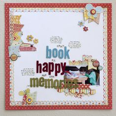 Love the white background and the borders of patterned paper, stitches and punching around it!