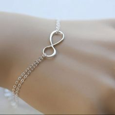 infinity sign bracelet! pretty!