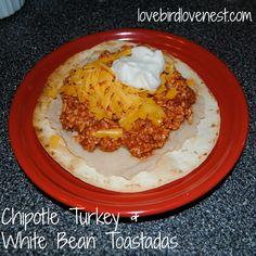 Chipotle Turkey White Bean Toastadas