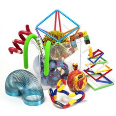 Find a 12 piece meeting room fiddle set with Koosh balls and squeeze toys. Our fiddles, toys and tools are ideal for educational and office use. Fidget toys reduce restlessness and improve concentration! Try them in your office to see the difference. Fiddle Toys, How To Focus Better, Desk Toys, Sensory Diet, Stress Toys, Learning Toys, Teaching Tools, Family Christmas, Something To Do