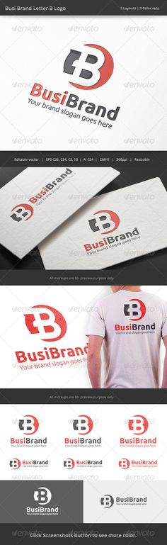 Business Brand Letter B - Logo Design Template Vector #logotype Download it here: http://graphicriver.net/item/business-brand-letter-b-logo/8430154?s_rank=633?ref=nexion