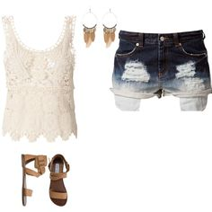 Untitled #33 by peytonjordan on Polyvore featuring Vero Moda, Jeane Blush, Steve Madden and River Island
