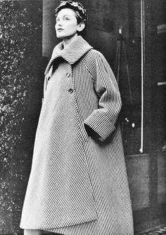 élégance ▲ balenciaga I950 manteau french coat retro vintage parisien